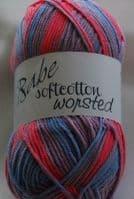 Euro Baby BABE SOFTCOTTON WORSTED DK Knitting Yarn Wool 100g - 102 SugarPop